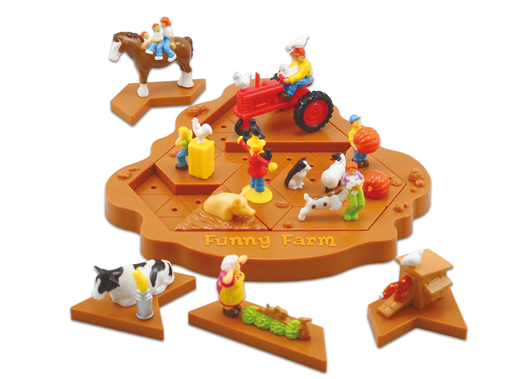 Компоненты настольной игры-головоломки Funny Farm