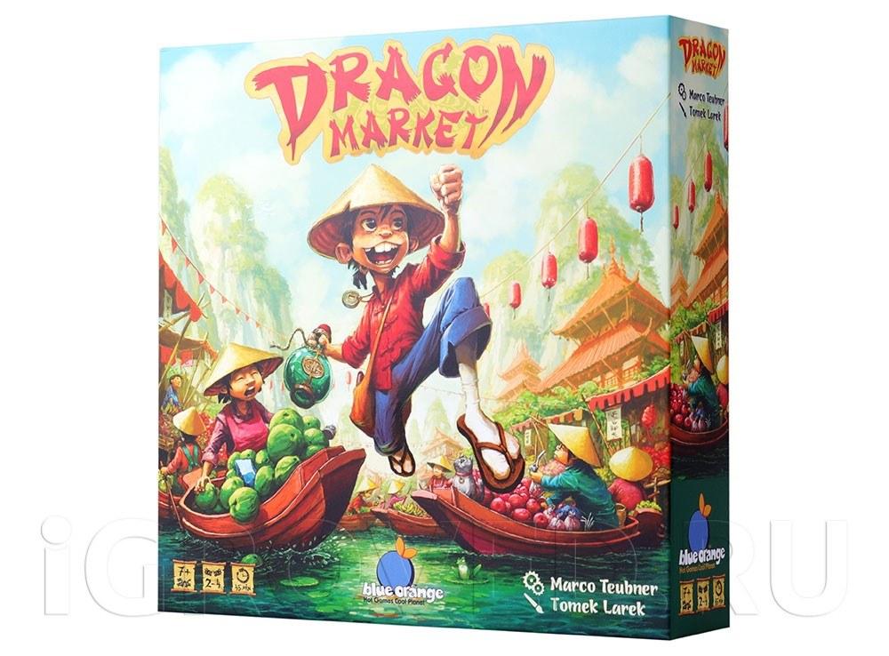 Коробка настольной игры Драконий рынок (Dragon Market)