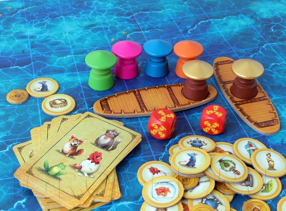 Компоненты настольной игры Драконий рынок (Dragon Market)