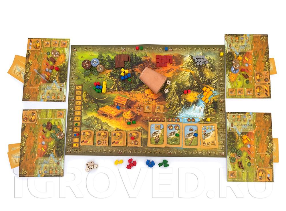 Игровой процесс настольной игры Каменный век (Stone Age)