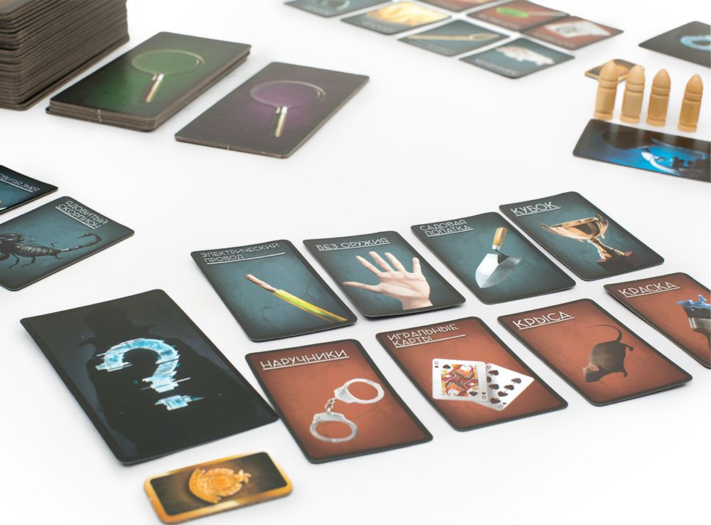 Игровой процесс настольной игры Криминалист