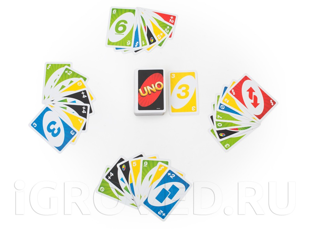 Все игроки получают по 7 карт, на стол кладется колода, из которой игроки берут карты в ходе игры