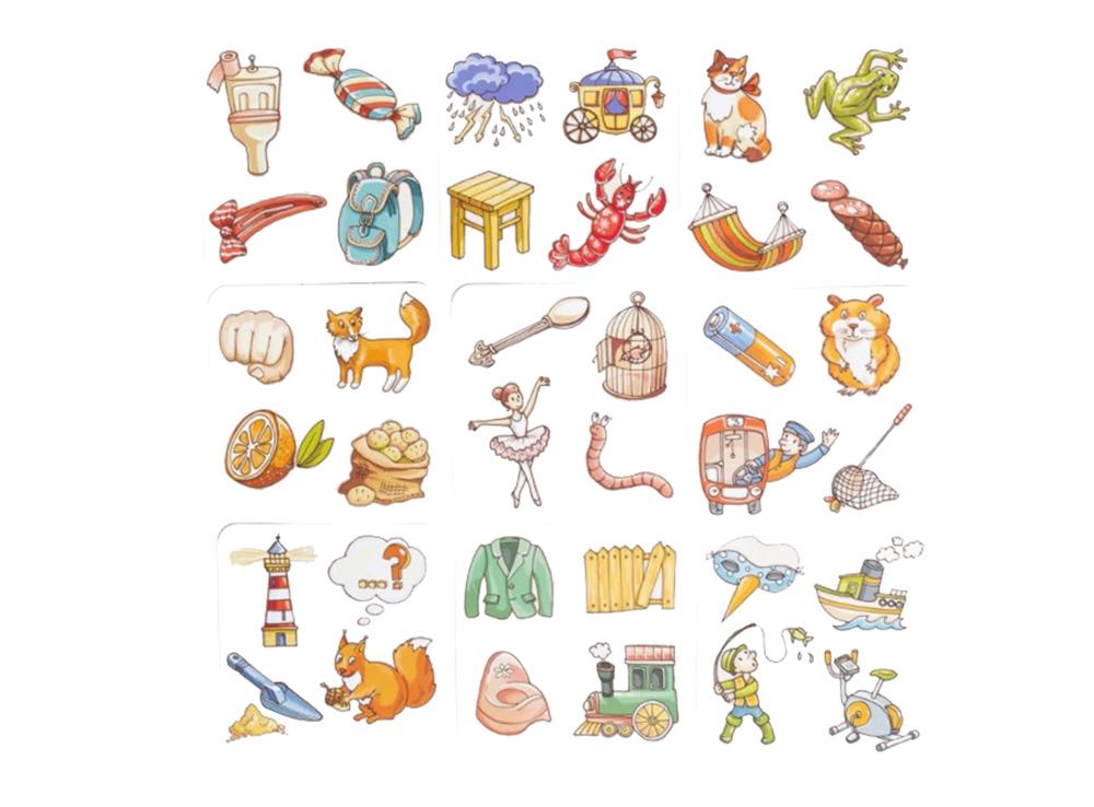 Карточки настольной игры Пакля-Рвакля