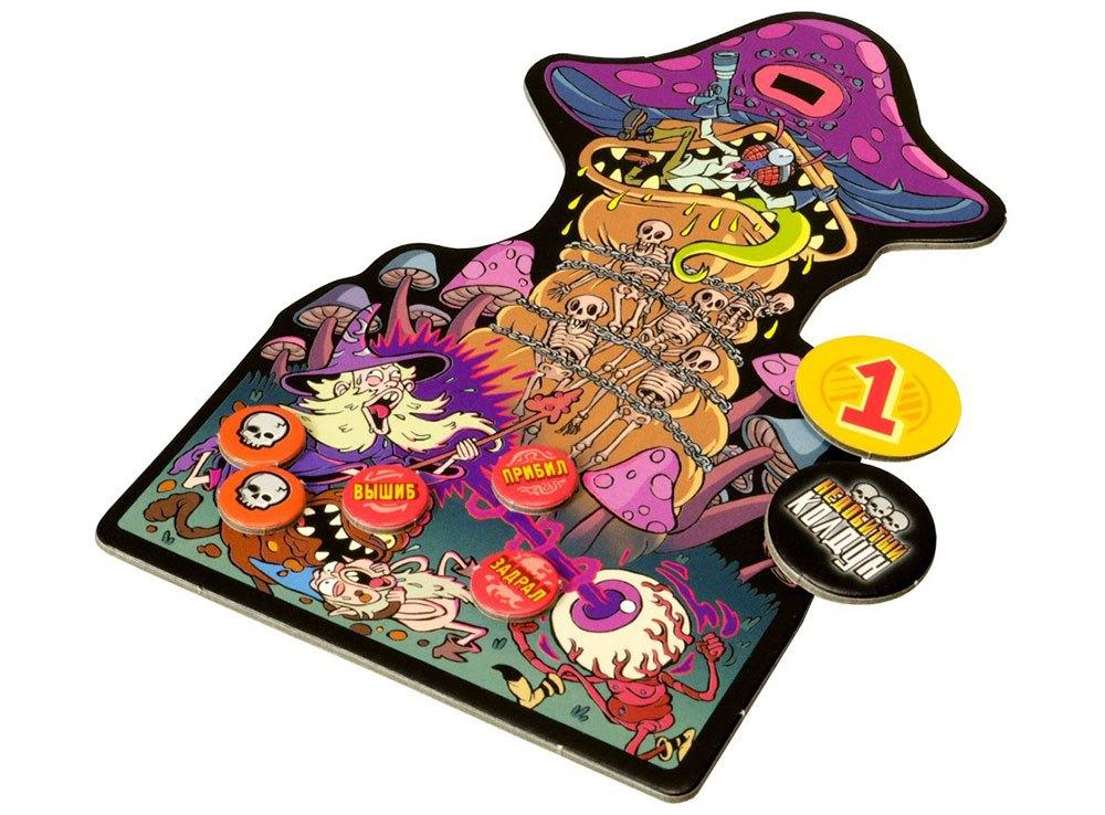 Компоненты настольной игры Эпичные схватки боевых магов: Месиво на грибучем болоте