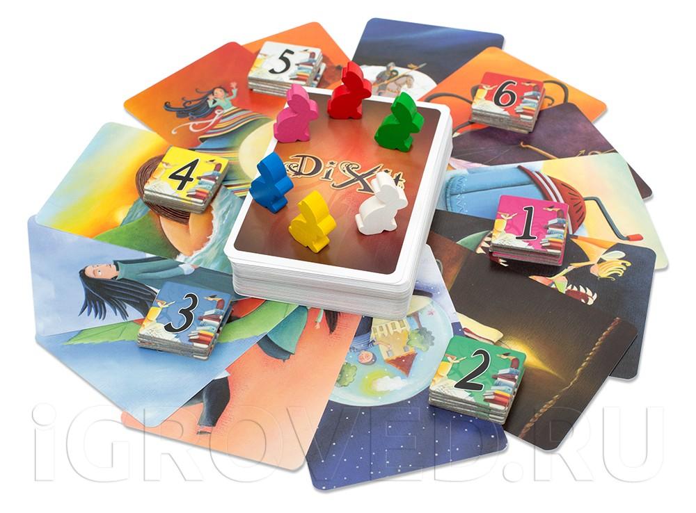 Компоненты настольной игры Диксит (Dixit)