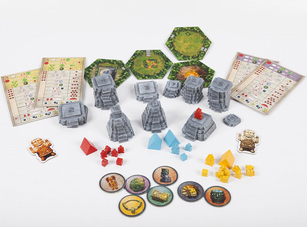 Компоненты настольной игры Тикаль (Tikal)