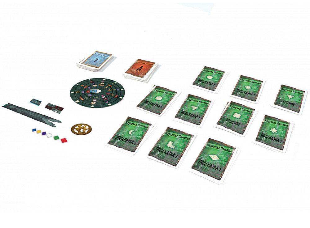 Компоненты настольной игры Exit-квест. Затонувшие сокровища