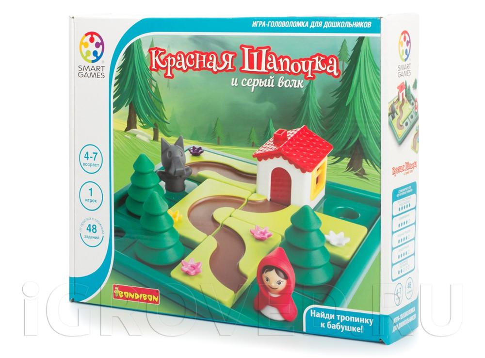 Коробка настольной игры-головоломки Красная Шапочка и Серый волк
