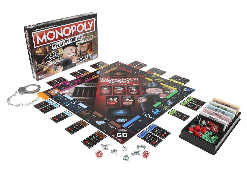 Компоненты настольной игры Монополия большая афера