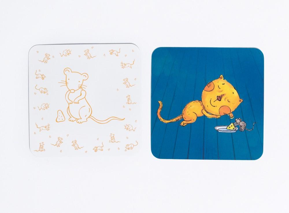 Компоненты настольной игры Кошки-мышки