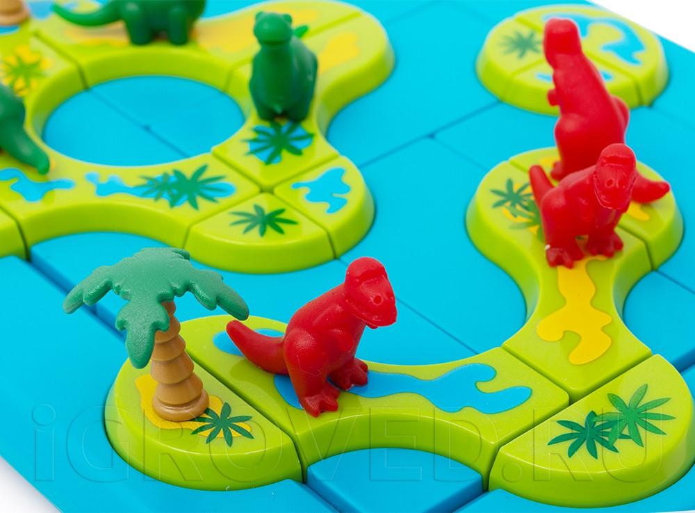 Процесс настольной игры Динозавры. Таинственные острова