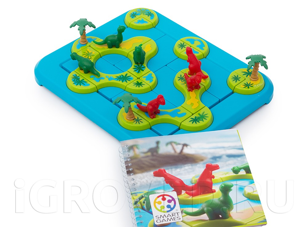 Компоненты настольной игры Динозавры. Таинственные острова