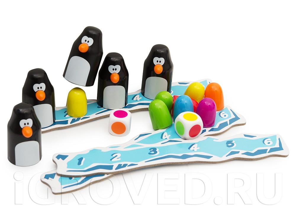 Компоненты настольной игры Земля пингвинов (Pengoloo)