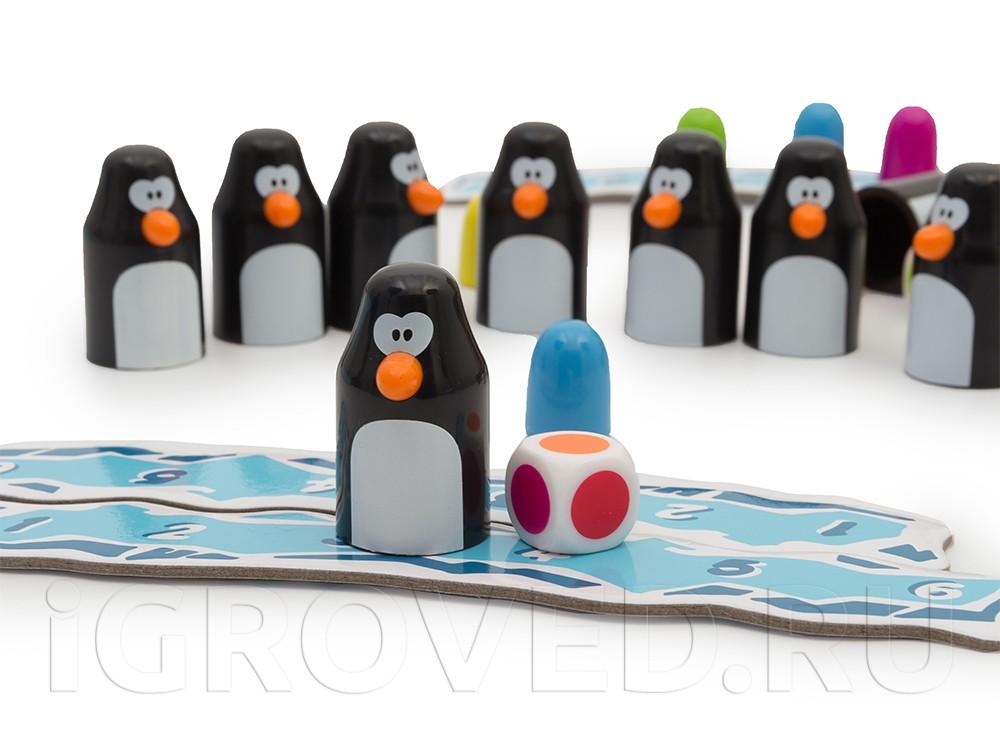 Нашли правильный цвет - ставьте пингвина к себе на льдину. Настольная игра Земля пингвинов (Pengoloo)
