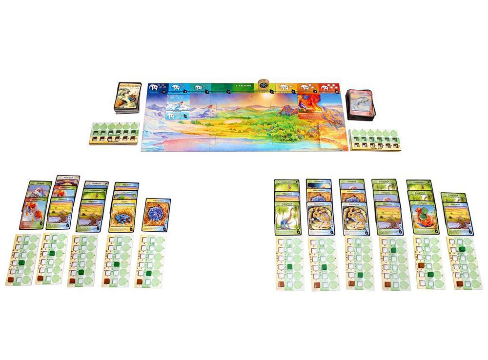 Компоненты настольной игры Эволюция. Климат (дополнение)