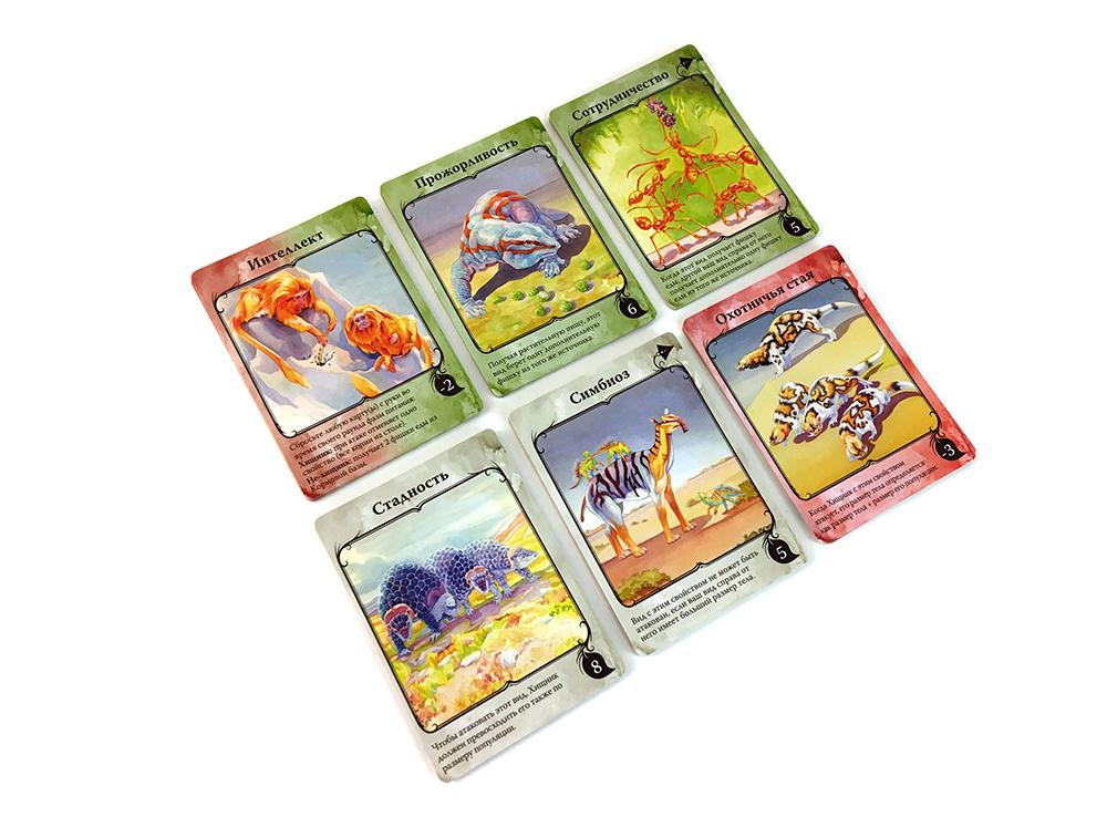 Карточки настольной игры Эволюция. Климат (дополнение)