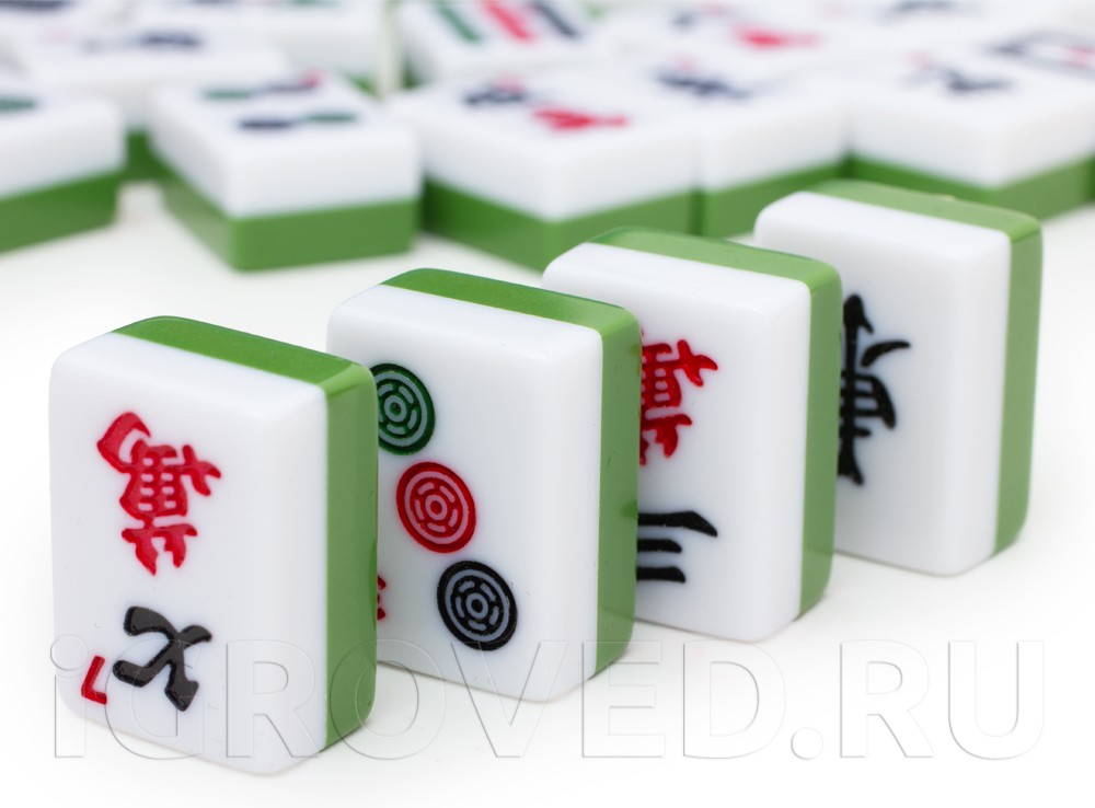 Компоненты настольной игры Маджонг (Mahjong)