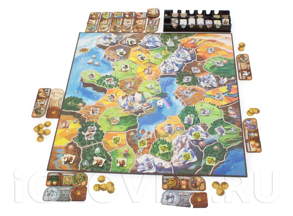 Игровой процесс настольной игры Маленький Мир (Small World)