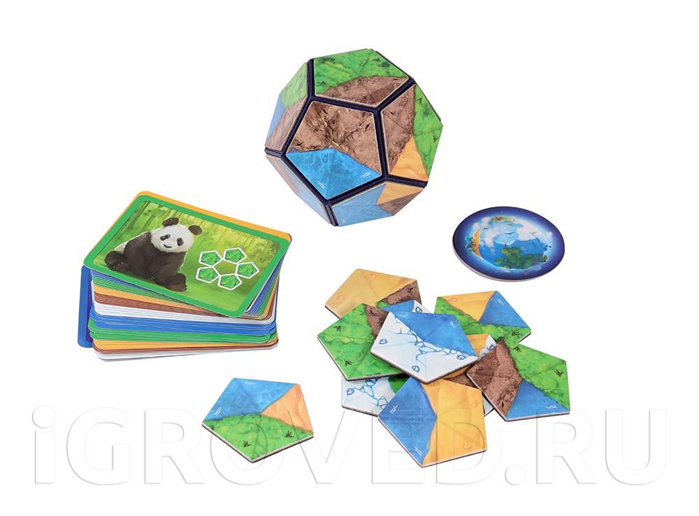 Компоненты настольной игры Планета (Planet)