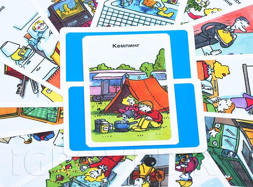 Компоненты настольной игры Тик Так Бумм для детей