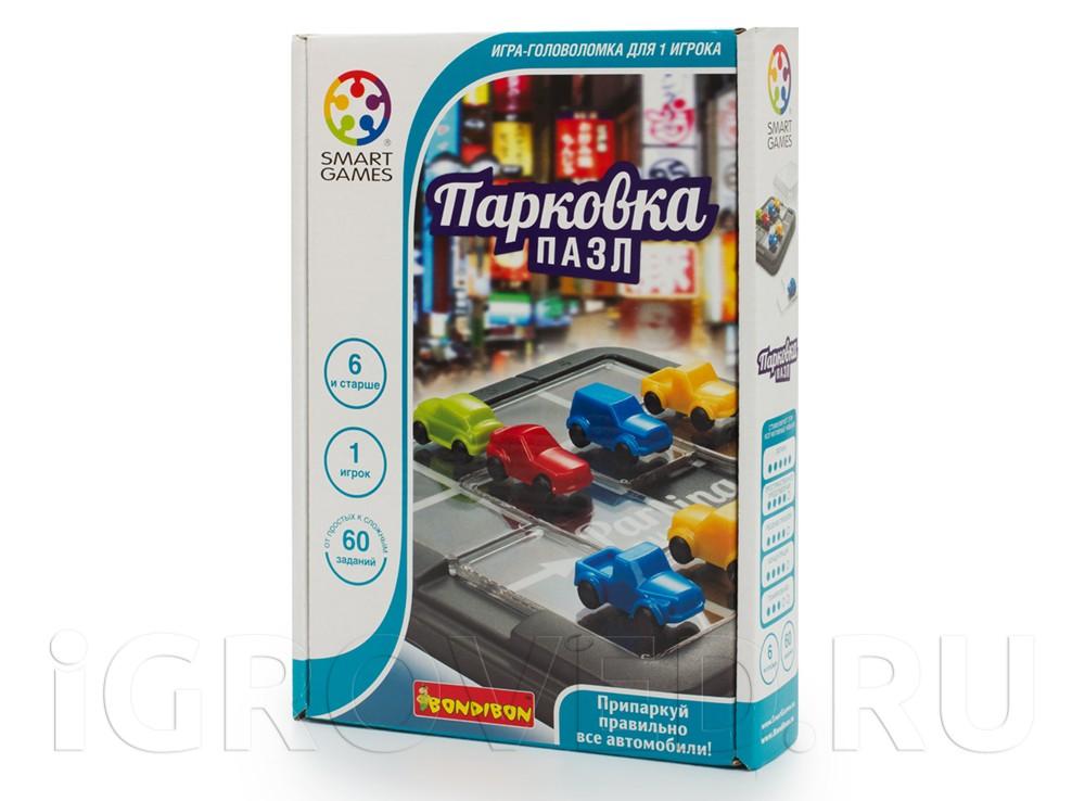 Коробка настольной игры-головоломки Парковка Пазл