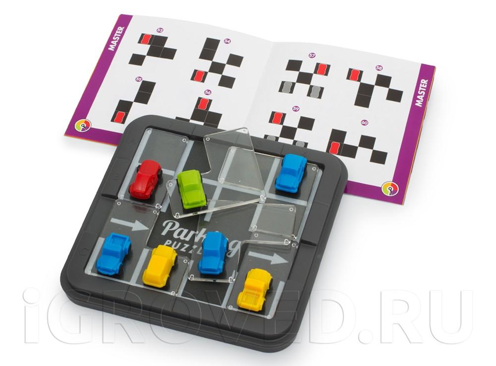 Компоненты настольной игры-головоломки Парковка Пазл