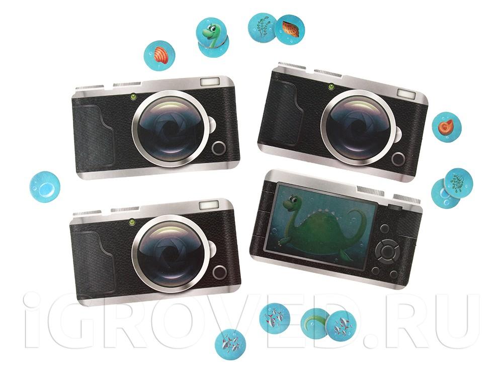 Планшеты игроков сделаны в виде фотоаппарата. Настольная игра В поисках Несси