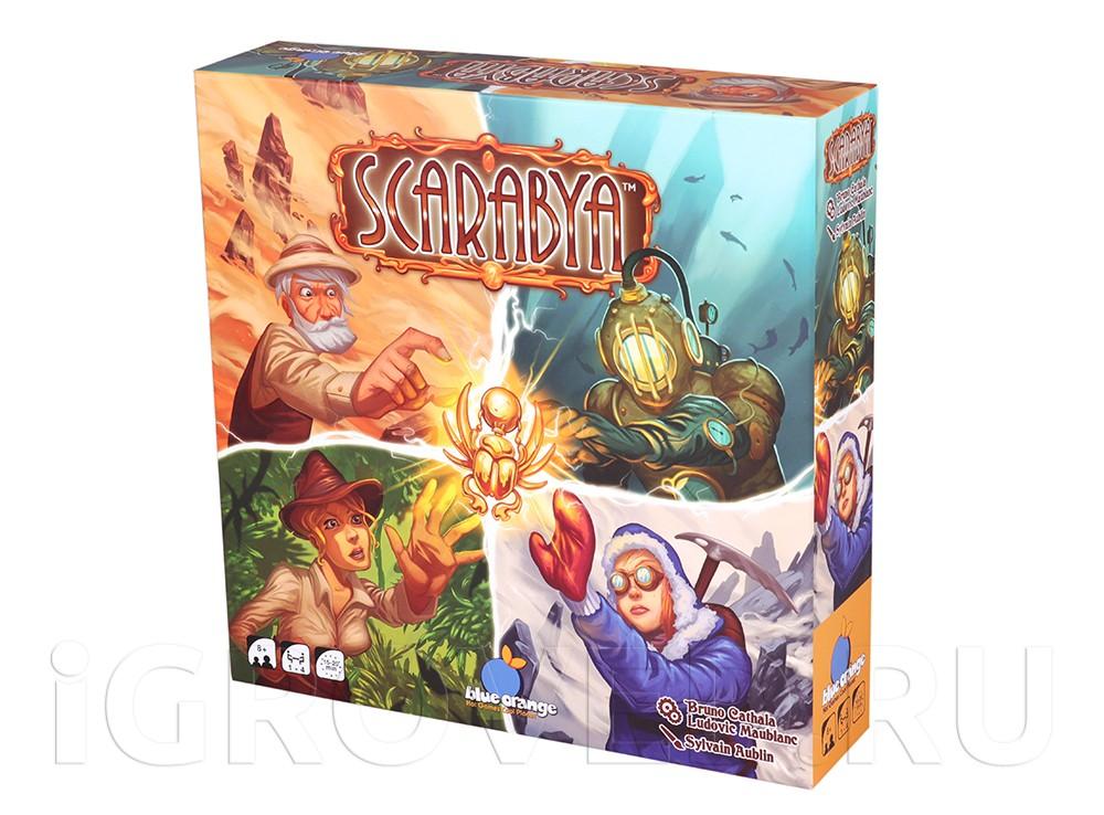 Коробка настольной игры Скарабеи (Scarabya)