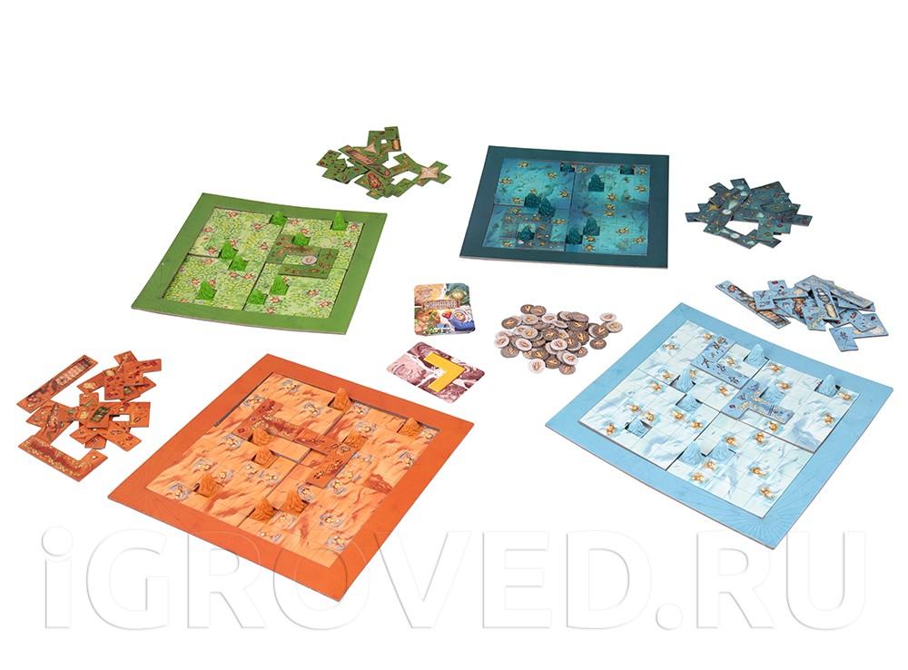 Игровой процесс настольной игры Скарабеи (Scarabya)