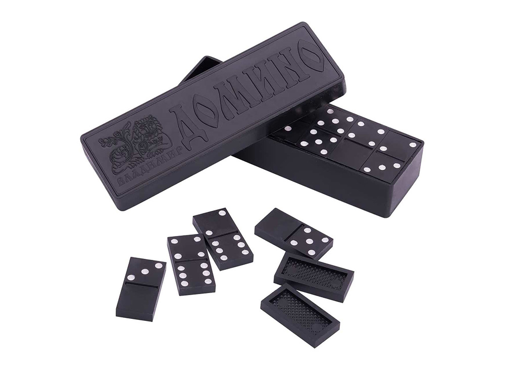 Коробка настольной игры Домино с компонентами