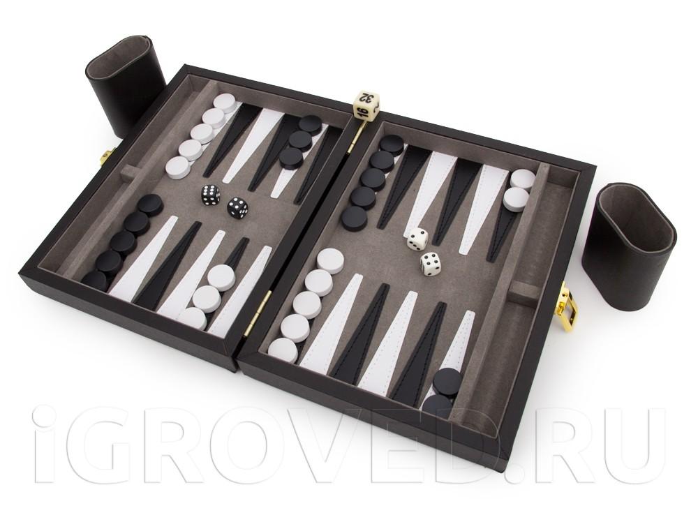 Игровой процесс настольной игры Нарды магнитные мини (черно-белые)