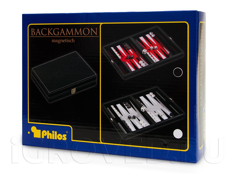 Коробка настольной игры Нарды магнитные мини (красные)