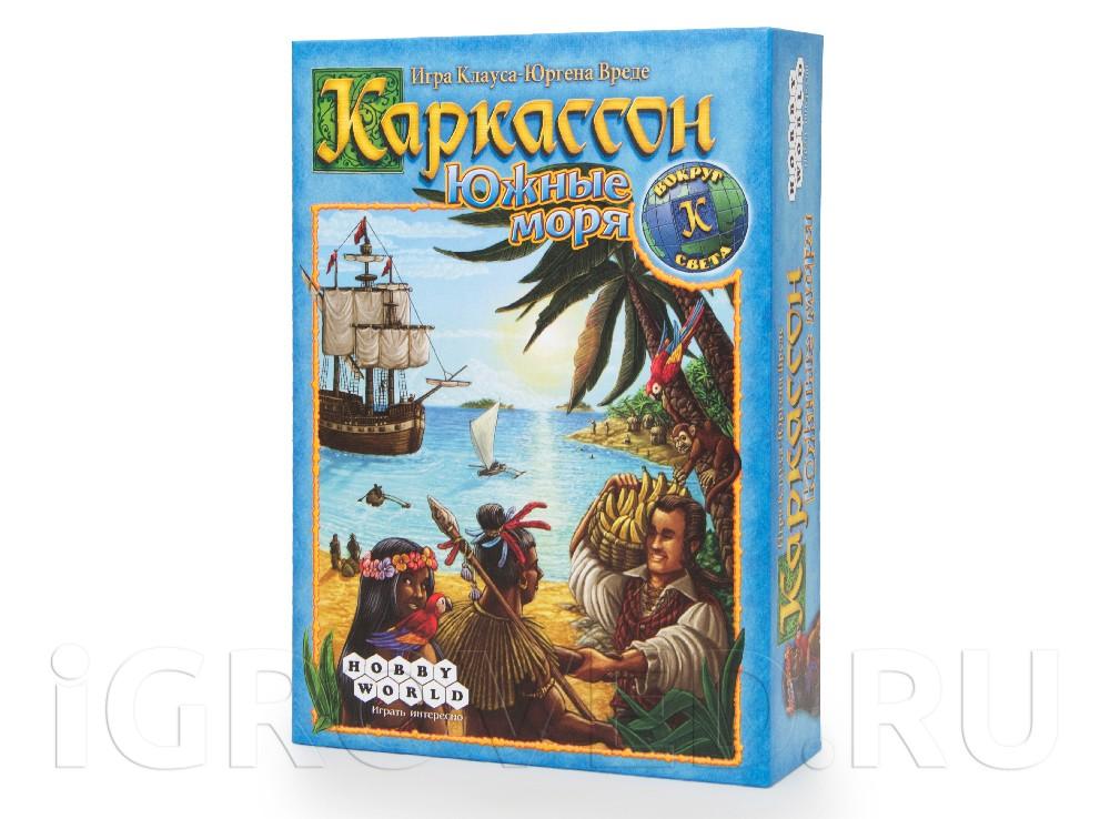 Коробка настольной игры Каркассон. Южные моря
