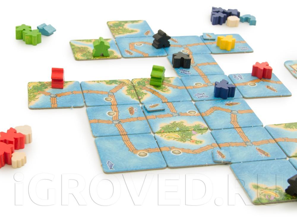 Игровой процесс настольной игры Каркассон. Южные моря