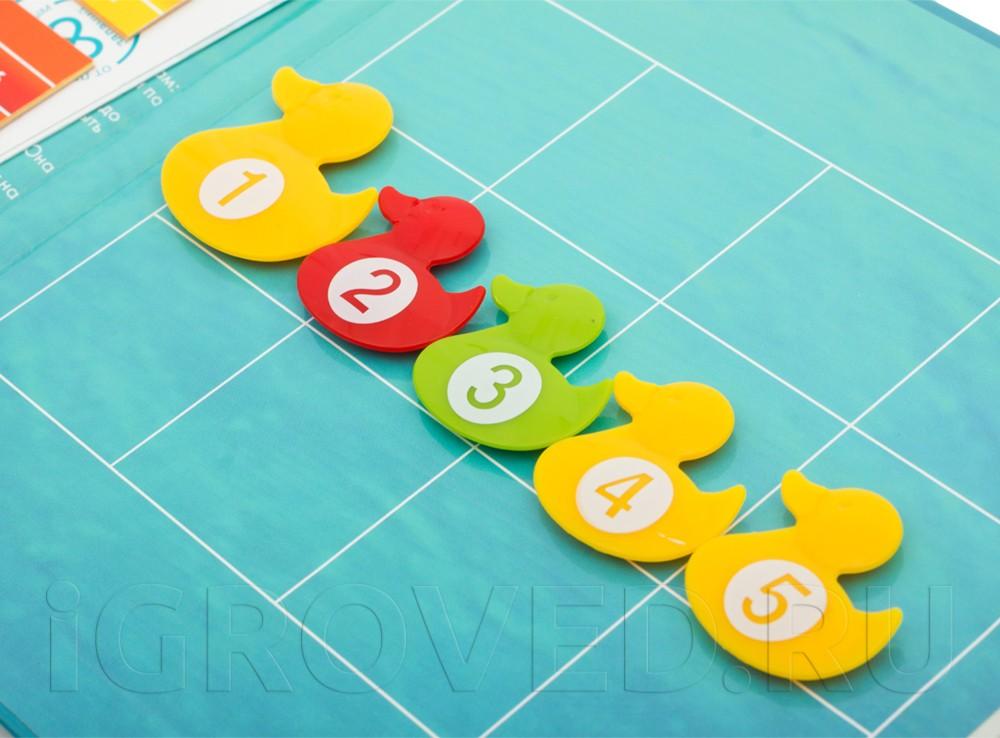 Компоненты настольной игры-головоломки Умные утки