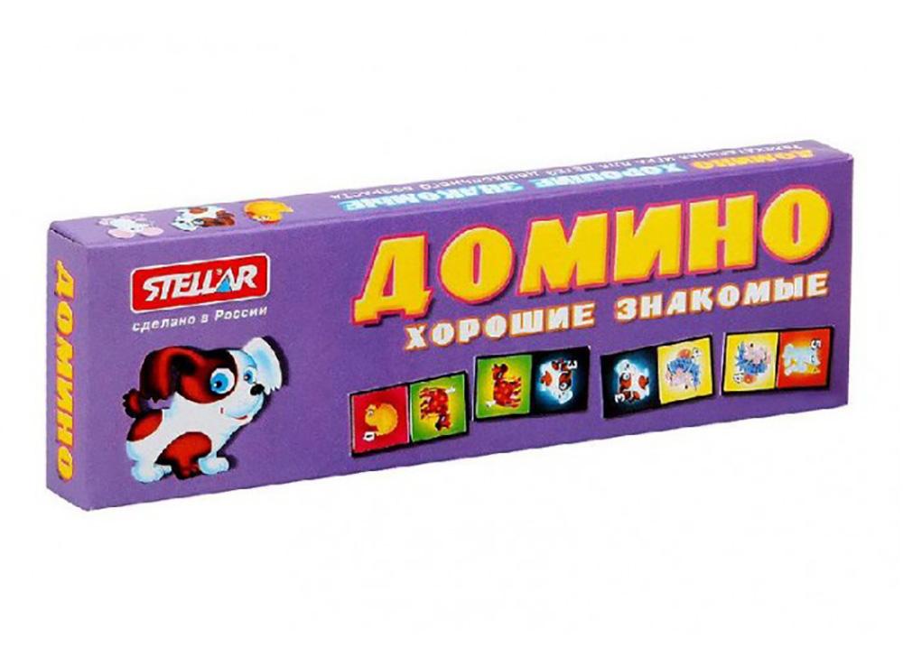 Коробка настольной игры Домино Хорошие знакомые