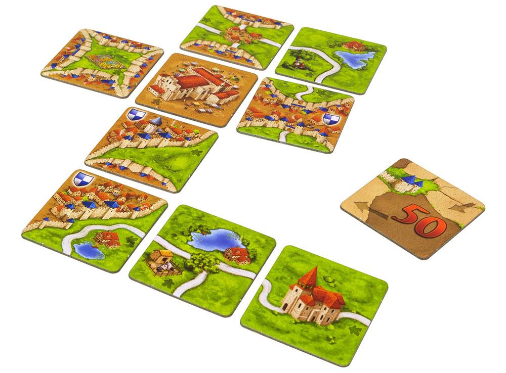 Компоненты настольной игры Каркассон: Таверны и Соборы (Inns and Cathedrals, дополнение)