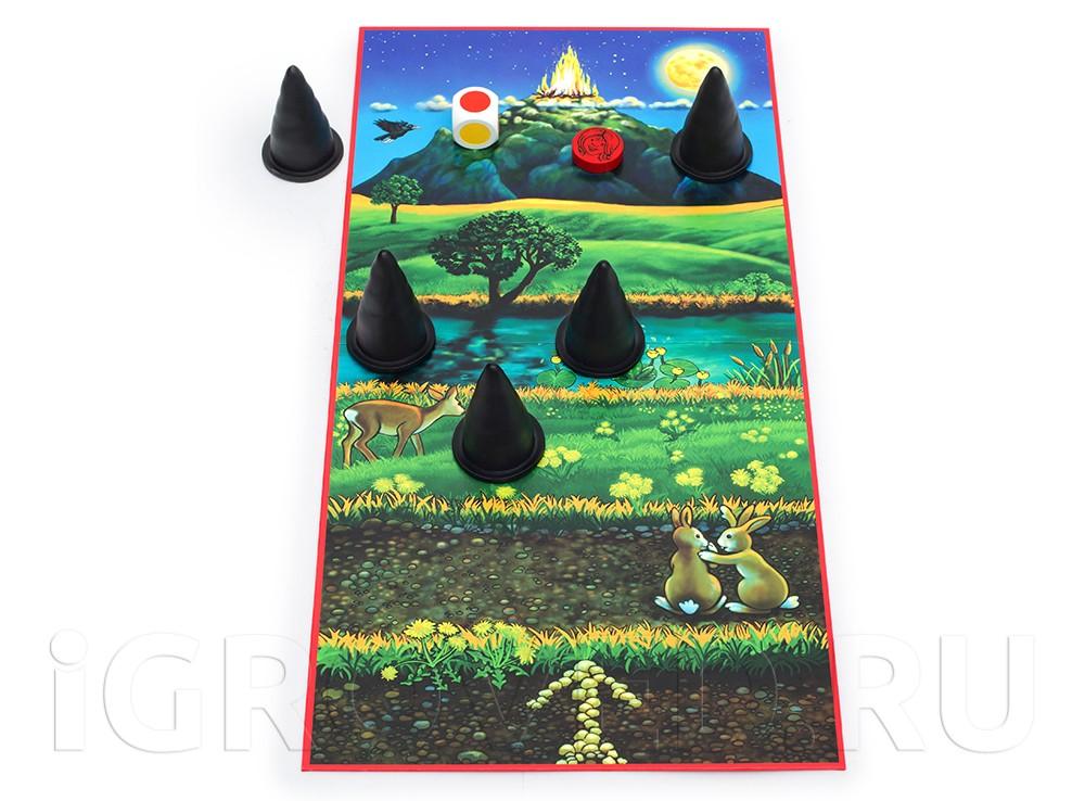 Игровое поле настольной игры Маленькие Ведьмочки (Husch Husch kleine Hexe)