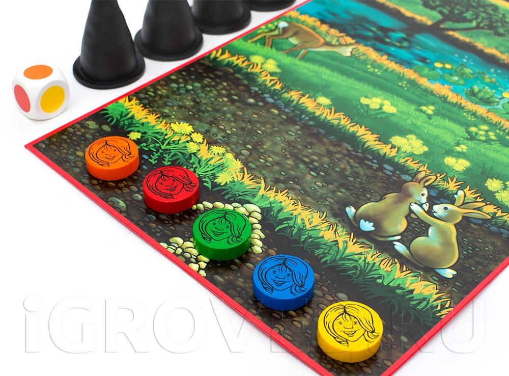 Компоненты настольной игры Маленькие Ведьмочки (Husch Husch kleine Hexe)