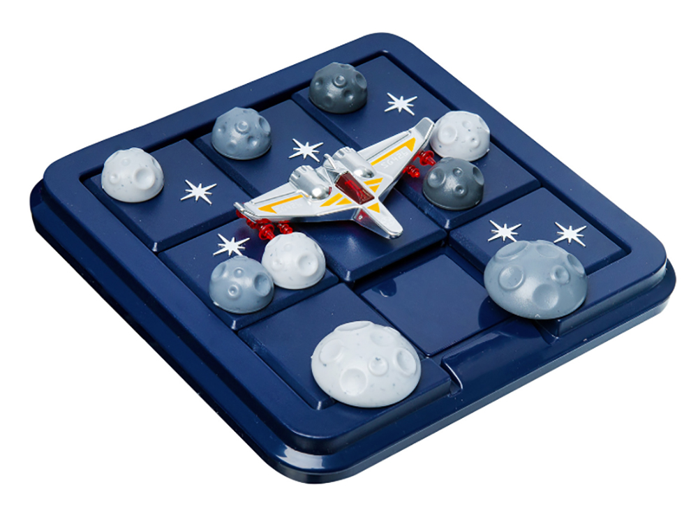 Игровое поле и детали настольной игры-головоломки Астероиды в пролёте