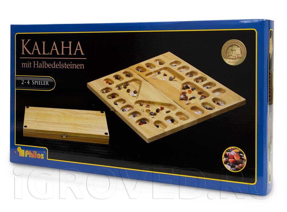 Коробка настольной игры Калах / Манкала для 2-4 игроков