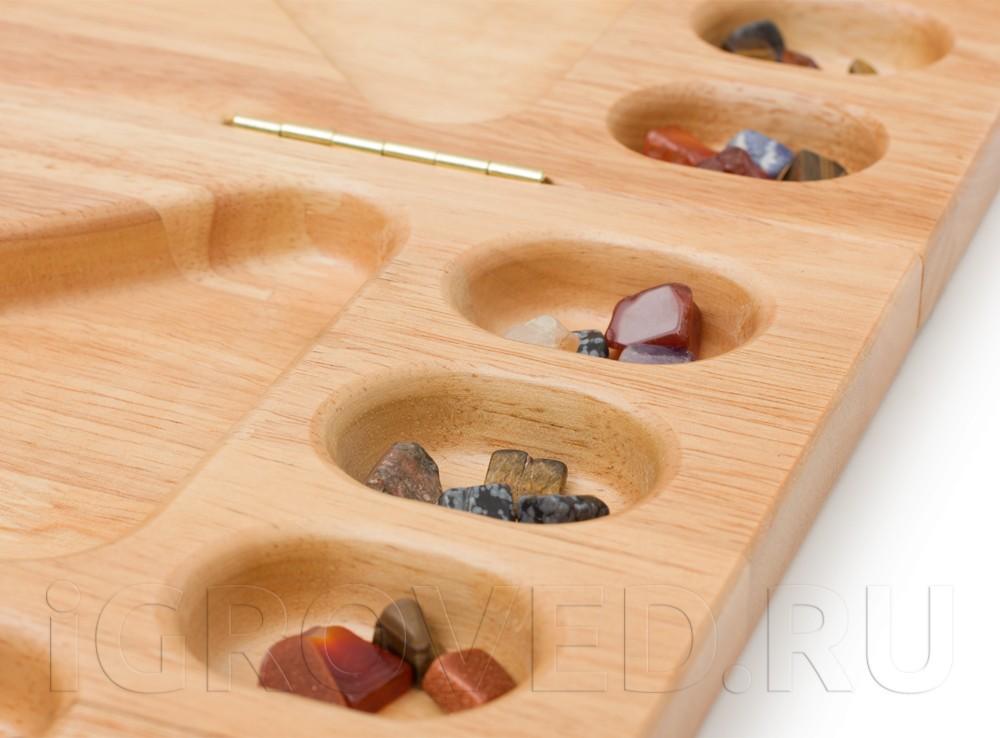 Игровой процесс настольной игры Калах / Манкала для 2-4 игроков