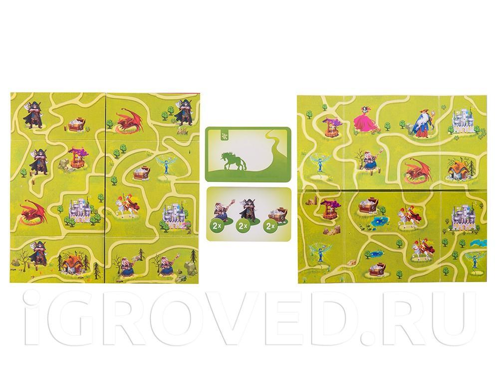 Сложите поле таким образом, чтобы выполнить задание на карточке. Настольная игра Зачарованные тропинки