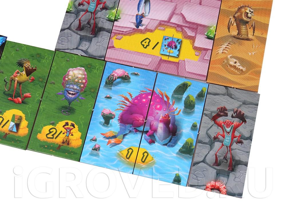 Игровой процесс настольной игры Планета Монстров