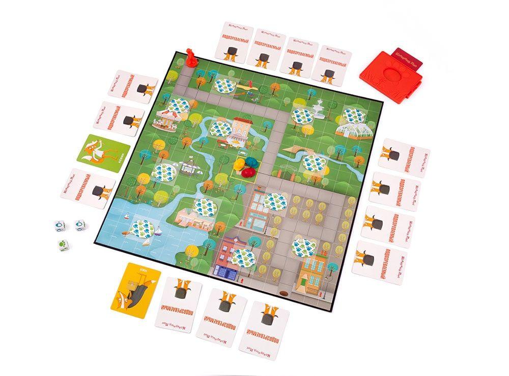Игровое поле настольной игры Коварный Лис в начале игрового процесса