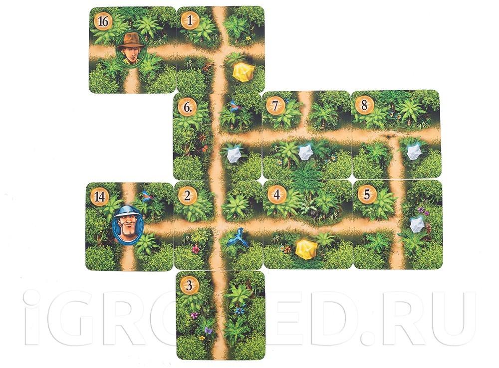 Игровой процесс настольной игры Каруба (карточная версия)