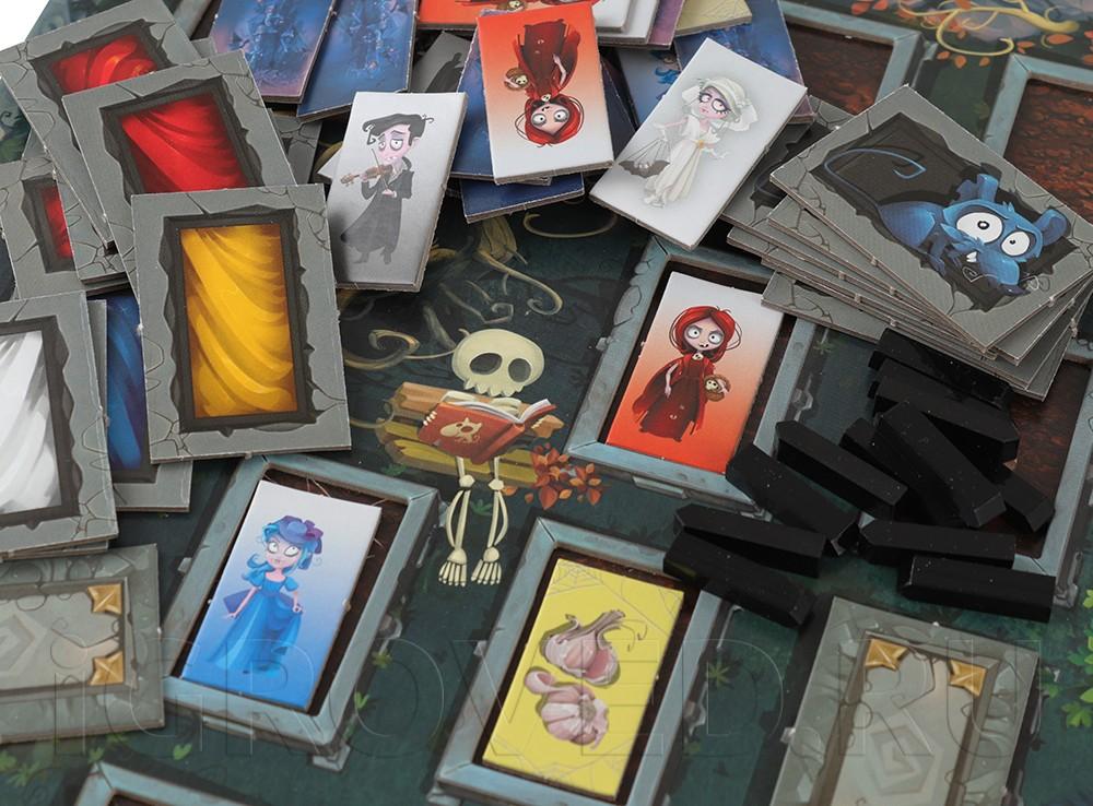 Компоненты настольной игры Вампирчики (новый дизайн)