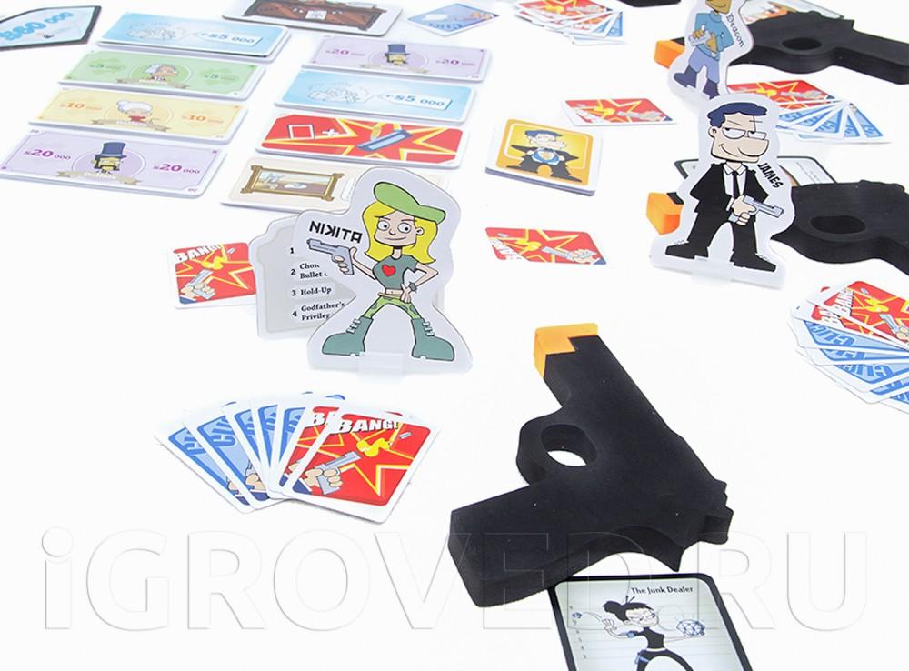Игровой процесс настольной игры Гангстеры