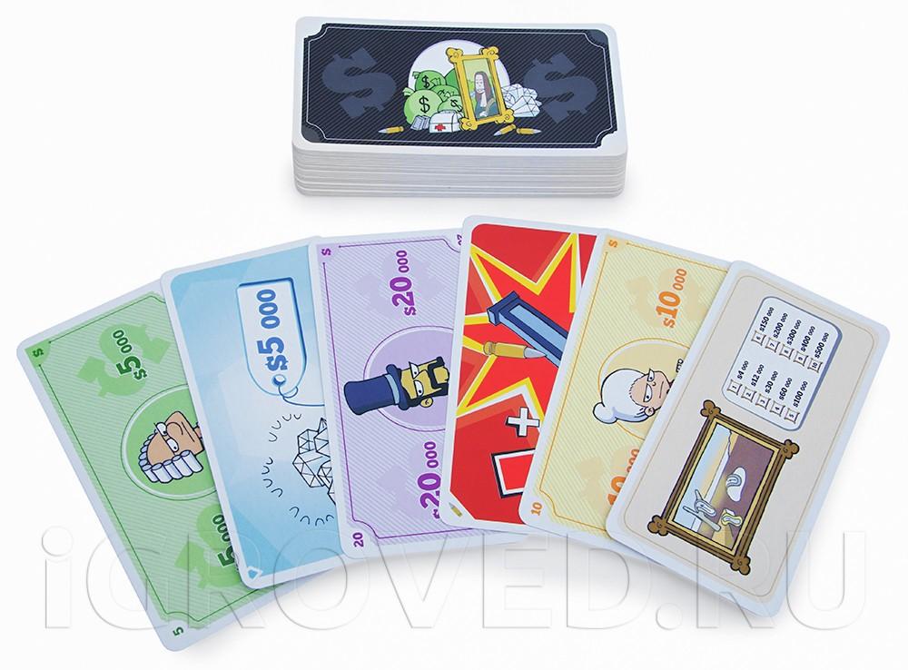 Карточки настольной игры Гангстеры
