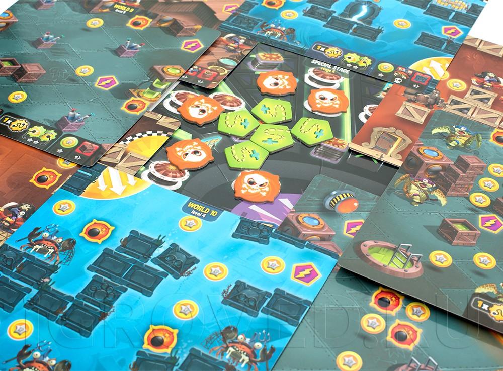 Компоненты настольной игры Луни Квест: Затерянный город (Loony Quest: The Lost City, дополнение)